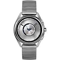Emporio Armani Men's Quartz Smartwatch smart Display and Stainless Steel Strap, ART5006