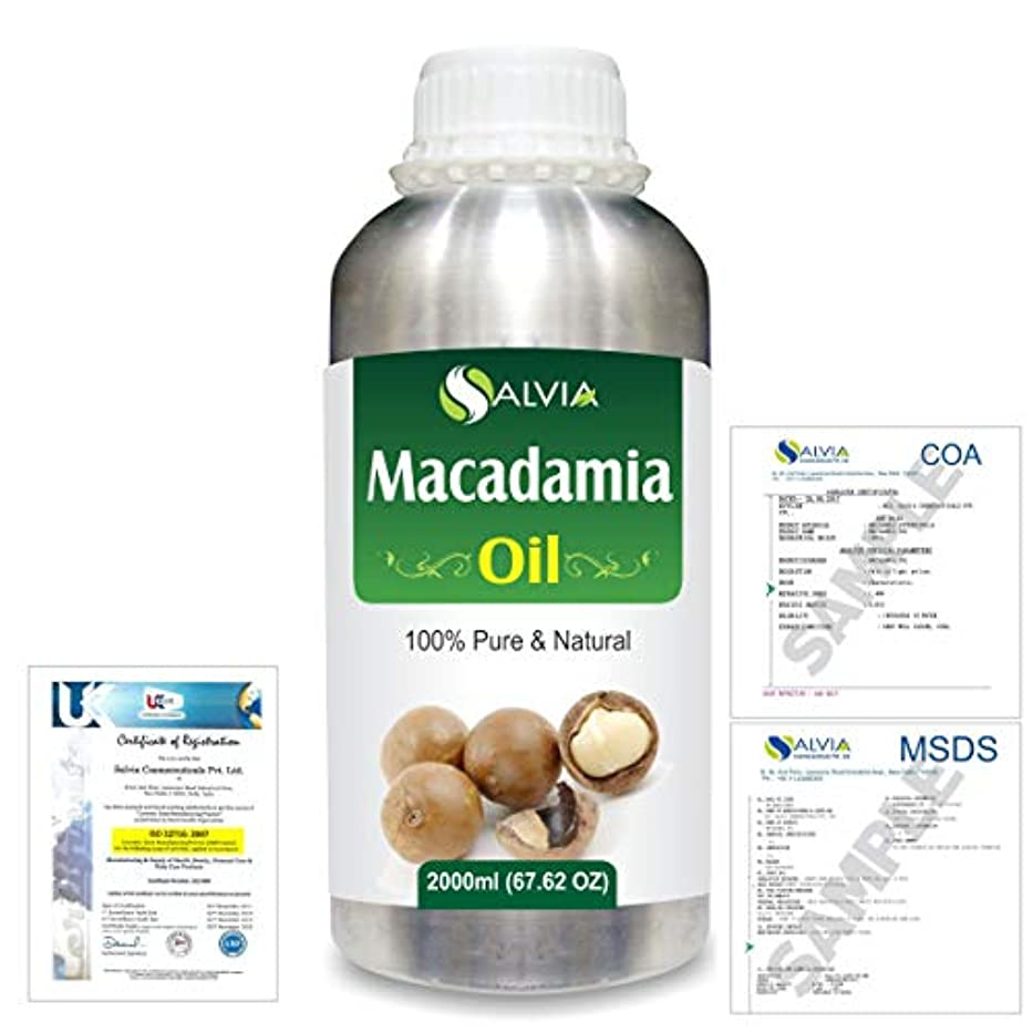 Macadamia (Macadamia Integrifolia) Natural Pure Undiluted Uncut Carrier Oil 2000ml/67 fl.oz.