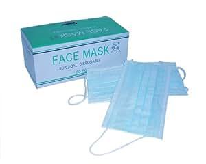 3層構造サージカルマスク FACE MASK 50枚組 25387 色はおまかせ