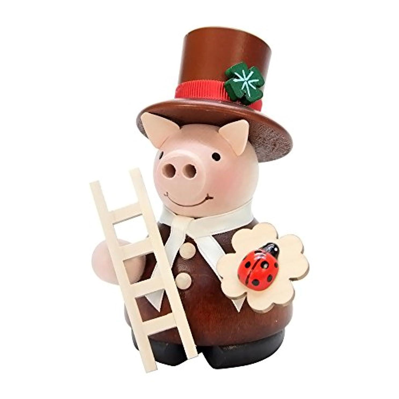 聖人薄汚い牧草地(One size, Multi) - Christian Ulbricht Incense Burner - Lucky Pig Chimney Sweep - 4.5H x 3W x 3D
