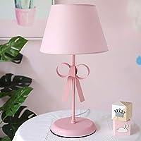 RXY-101 和風シンプルファッション錬鉄製布ランプシェード子供部屋寝室研究装飾照明テーブルランプ (Color : A)