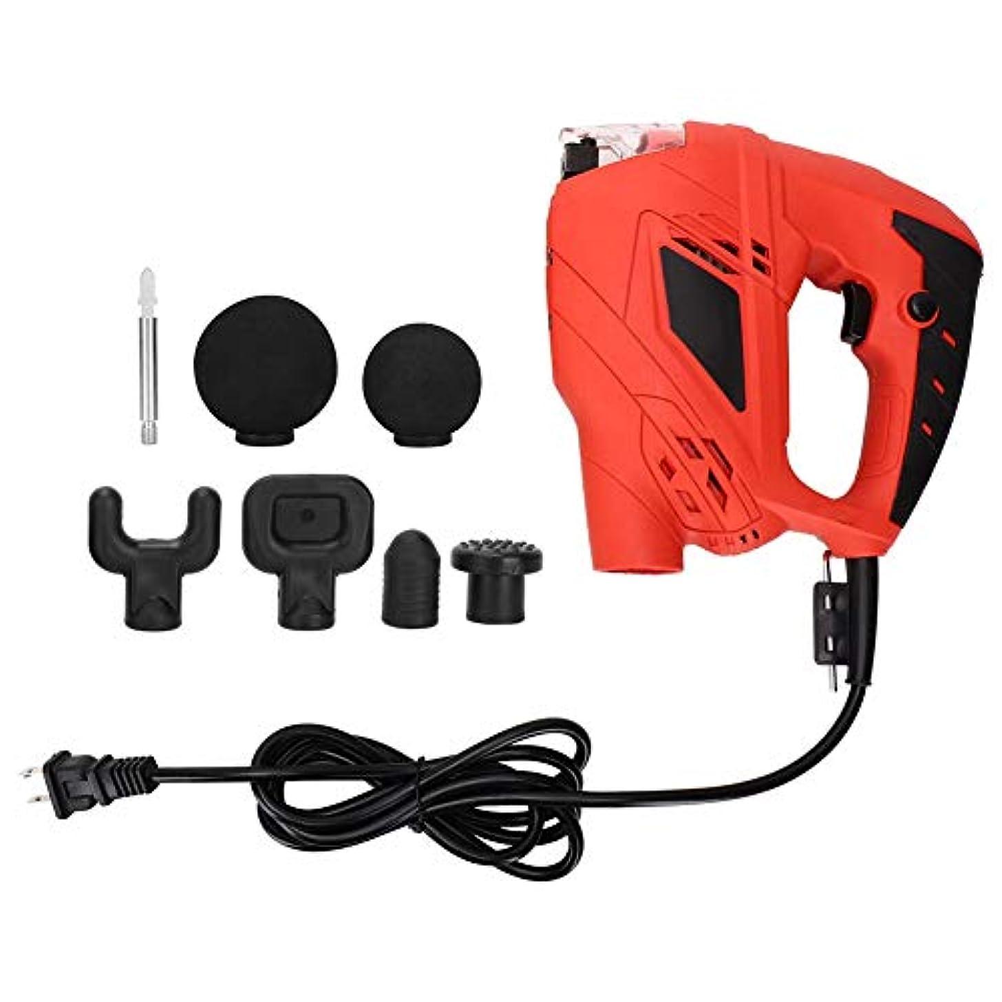 置換愚かな排出深部組織マッスルマッサージャーガンマッサージデバイス、電気痛み緩和筋肉筋膜疲労リラックスマシンマッサージ銃(US Plug)