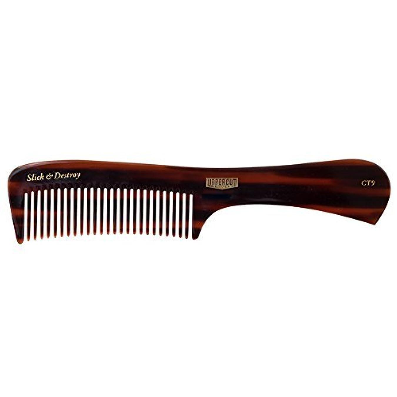 長椅子イサカ栄養Uppercut Deluxe CT9 Tortoise Styling Comb - Minimal Static, Flexible - Slick & Destroy [並行輸入品]