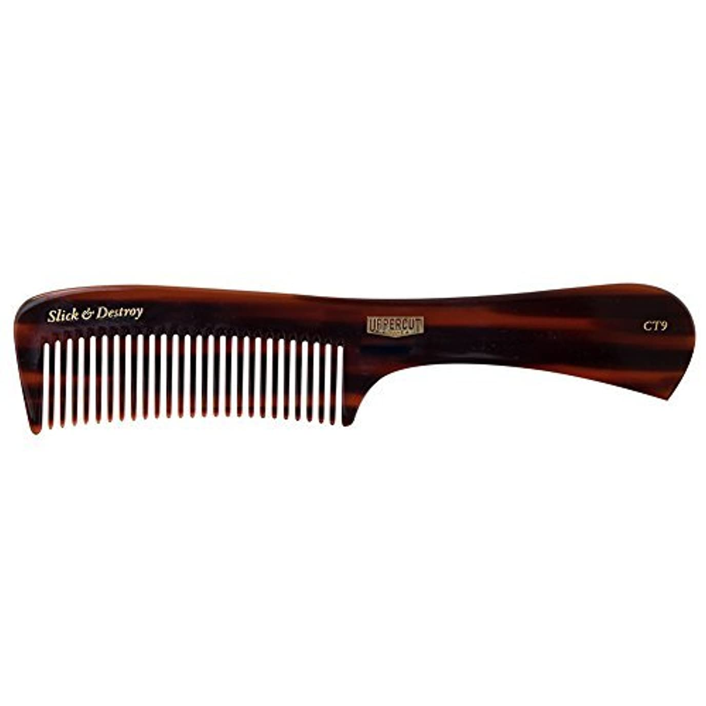 展開するじゃない退屈Uppercut Deluxe CT9 Tortoise Styling Comb - Minimal Static, Flexible - Slick & Destroy [並行輸入品]