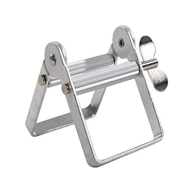 面ベジタリアンヘッジチューブ絞り器 チューブリンガー 軟膏押出器 アルミ製 歯磨き粉 絵の具 接着剤 洗面道具 便利 人気