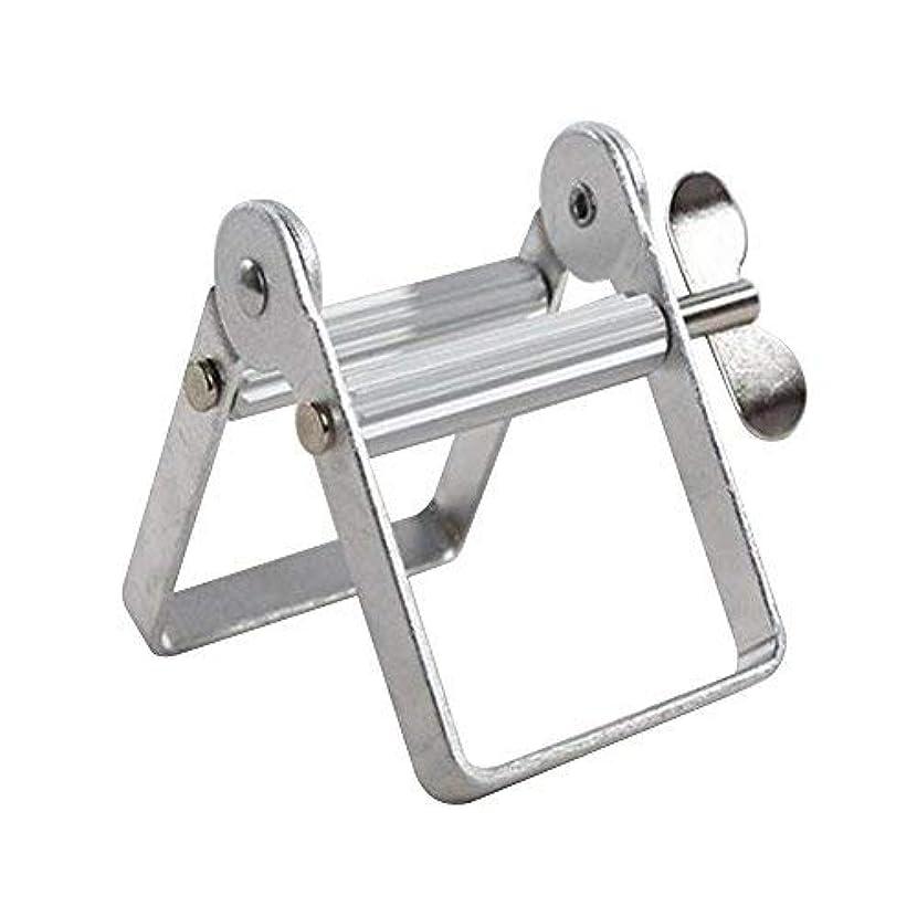 窒息させるテメリティ取得チューブ絞り器 チューブリンガー 軟膏押出器 アルミ製 歯磨き粉 絵の具 接着剤 洗面道具 便利 人気