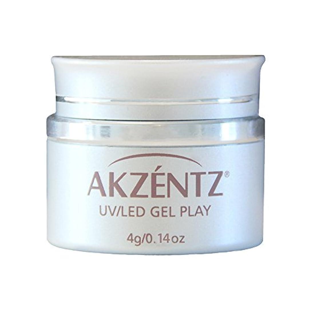 吸う単なる欠伸AKZENTZ カラージェル ジェルプレイ グリッツ ローズゴールドリーフ 4g UV/LED対応