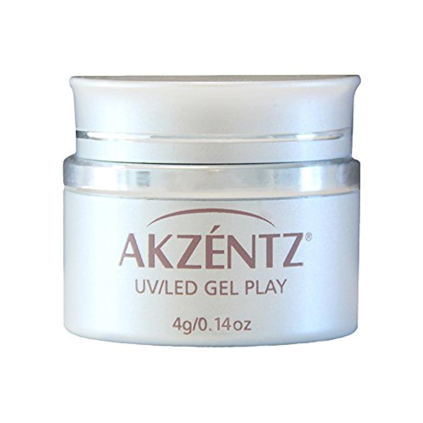 シュート流体咽頭AKZENTZ カラージェル ジェルプレイ グリッター ピンクシャンパン 4g UV/LED対応