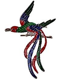 PINKING ブローチ フェニックス鳥 珐琅 美しい 魅力 エレガント おしゃれ 人気 カラフル きれい