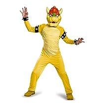 Super Mario Bros: Bowser Deluxe Child Costume スーパーマリオブラザーズ:クッパデラックスチャイルドコスチューム♪ハロウィン♪サイズ:S (4-6)