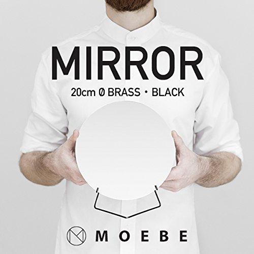 【正規日本代理店品】 MOEBE/ムーベ MIRROR ミラー 直径20cm 丸型 (ブラック)