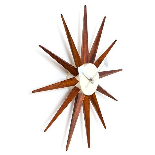 ジョージネルソン サンバーストクロック【CW08 ブラウン】時計 掛け時計 デザイナーズクロック 壁掛け時計 リプロダクト