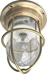 <照明・ライト・ランプ・船舶照明>真鍮マリンランプ ゼロデッキライトゴールド(0.96kg)<エクステリアのリーべ>