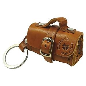 LA CUOIERIA(ラ・クオイエリア) キーホルダー ハンドメイド 本革 イタリア製 バウレット バッグ P210