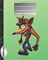 Composition Notebook: Blank Paper Notebook Journal,Workbook for Kids, Crash Bandicoot,Teens, Students for Back to School and Home College Writing,Unique Notebook (109 Pages,Blank Paper,8 x 10) (School Notebook)