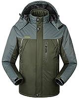 WantDo防水性ハードシェル メンズ アウトドアジャケット スキーウェア 快適 裏ボアフリース 防寒防風対策