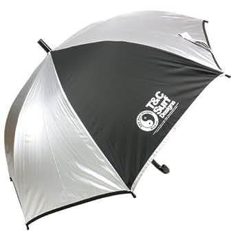 [タウンアンドカントリー]遮光無地 58cmジャンプ傘 [子ども傘/晴雨兼用/小学生] (シルバー)