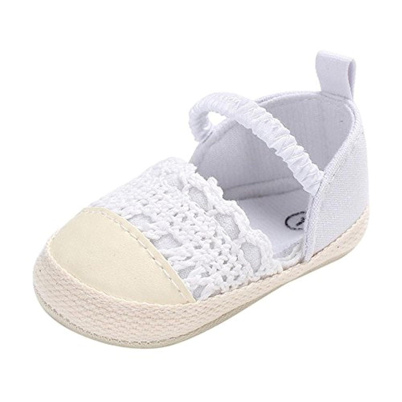 simayixxベビー靴幼児キッズガールズソフトソールベビーベッドシューズ幼児新生児夏秋靴 2 ホワイト 004