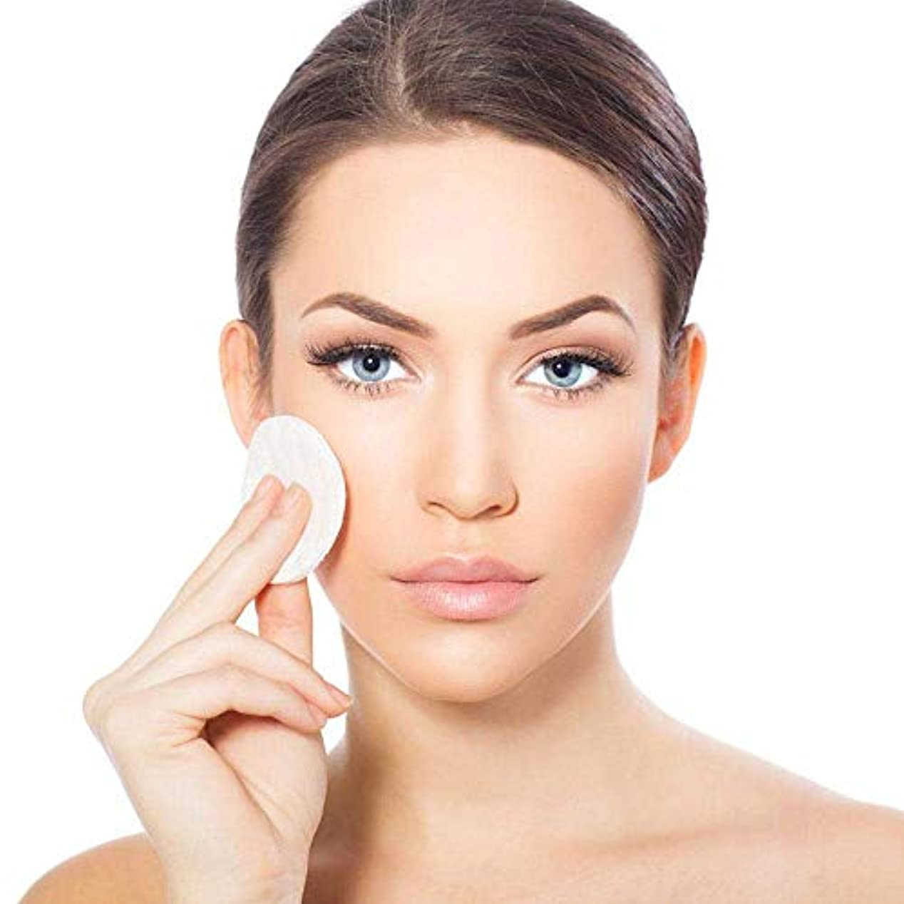 ハウジングロゴ脈拍ユニセックス 洗面再利用可能 3層化粧品除去パッド顔清潔ワイプ 化粧落としコットン 肌に優しい 8セット