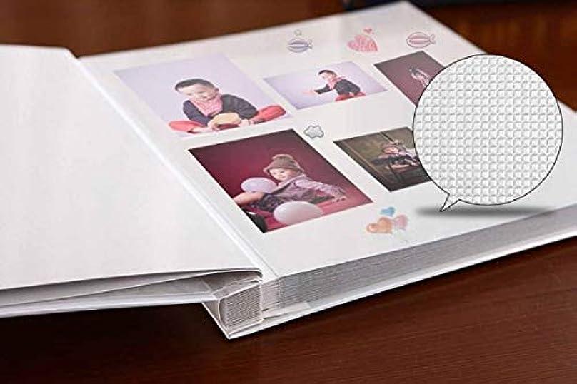 限定親密なかけるRLYBDL アルバム、手作りの伝統的な記念写真アルバム、恋人に適しています赤ちゃんは家族の若者のファッションスタイルを育てます(400-500枚の写真に対応できます、ピンク) (Color : Pink)