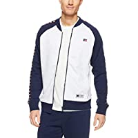 Russell Athletic Men's Eagle R Zip Thru Sweater, Ash/Navy