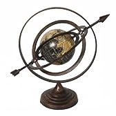 ご自宅やオフィスに★Armillary Sphere World Globe Table and Studio Decor アンティーク 天球儀/地球儀 ecWorld社【並行輸入】
