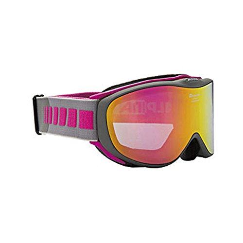 ALPINA(アルピナ)CHALLENGE 2.0 HM スノーゴーグル 大人用 眼鏡使用可能 A7195 アンスラサイト×ピンク F