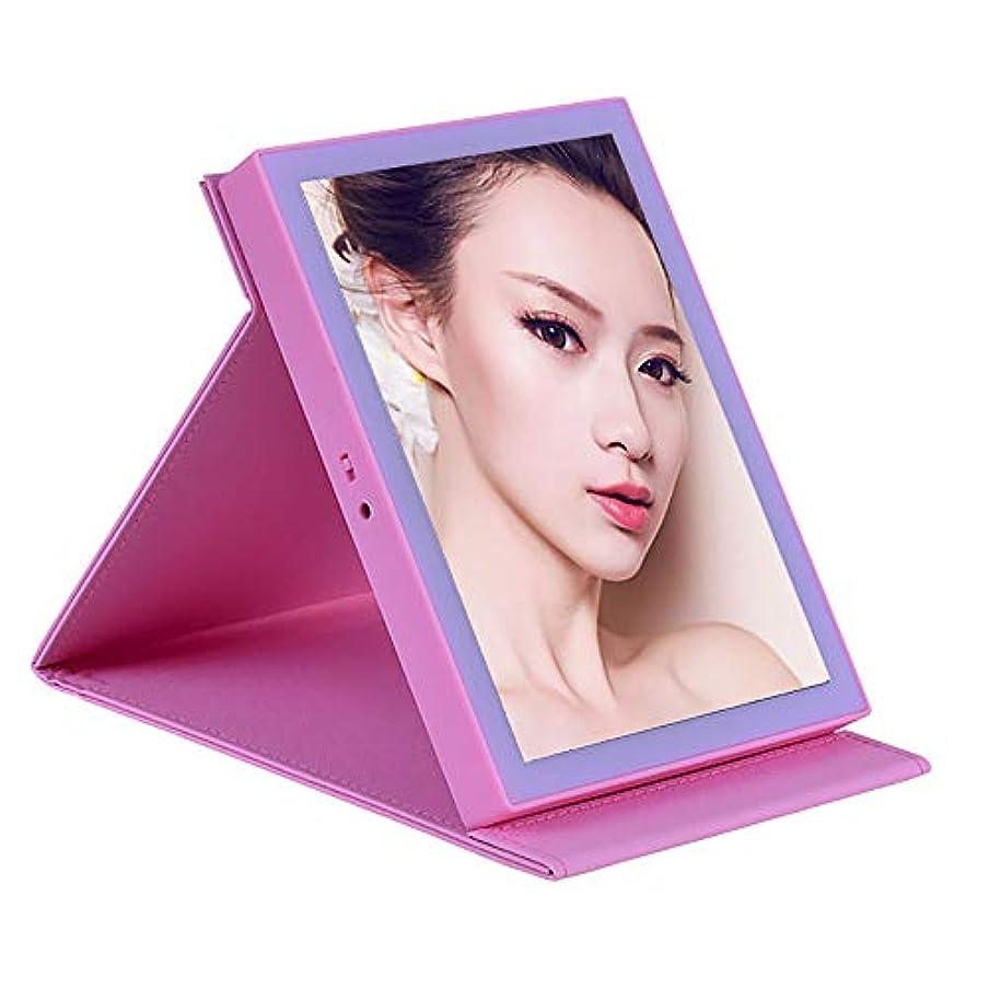 ミル衰えるガイドライン化粧鏡は充電式シングルミラー自立型ポータブルミラーを主導