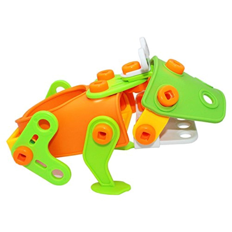 Nument ( TM ) DIY Stem building blocksおもちゃクリエイティブConstruction StackingおもちゃパズルDIY再生Toys Set withスクリューナットツール教育5 +用のキットの子供の誕生日、パーティー、クリスマス
