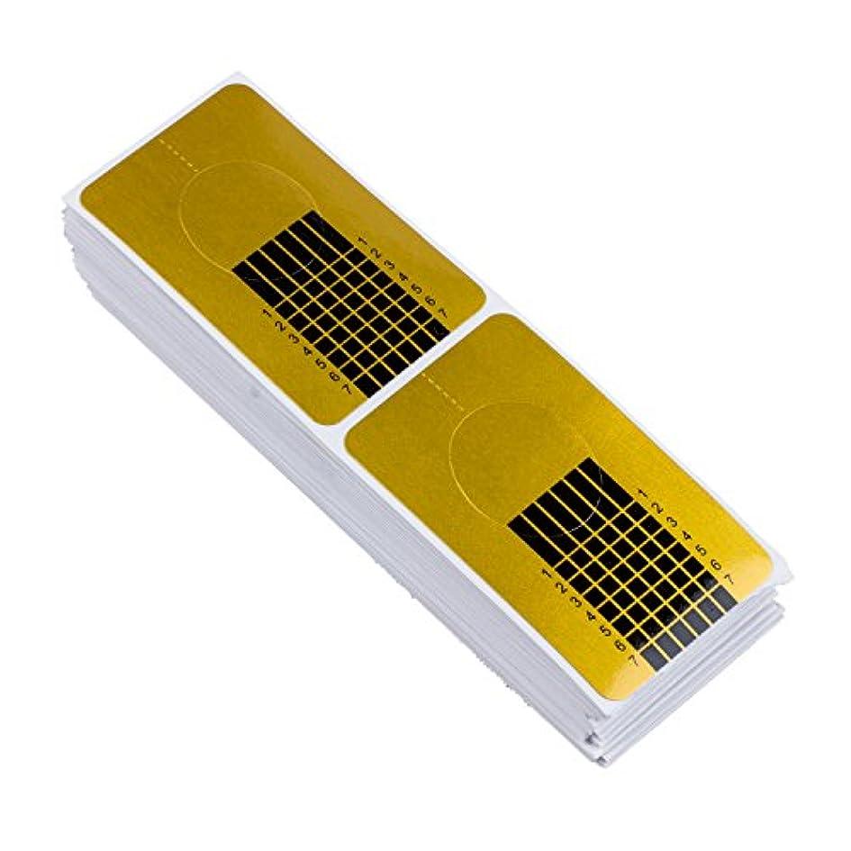 無視できるクラウン分類するTOOGOO 100x ゴールデンのネイルのカバー、DIYツール