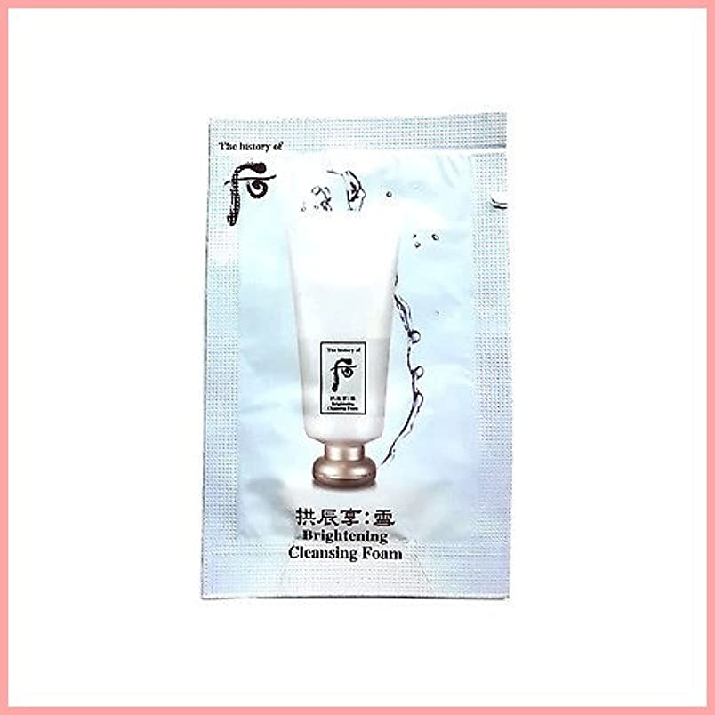 不正直シルクキャンドルThe History of Whoo Gongjinhyang seol whitening cleansing foam x 20EA [サンプル][TTBEAUTY]