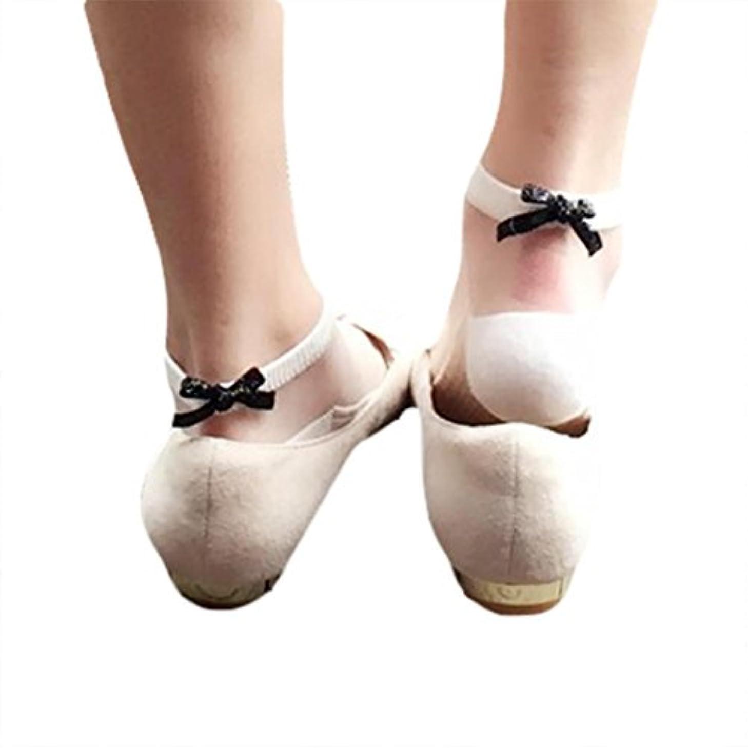 保持ディーラー一貫性のないFeiscat  5足セット ショートソックス 透明な靴下 アンクカバー シースルー ソックス レディース カジュアル ショートソックス 靴下 女性 可愛い ちょ結び セクシー 無地
