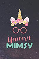 Unicorn Mimsy: Family Grandma Women Mom Memory Journal Blank Lined Note Book Mother's Day Holiday Gift