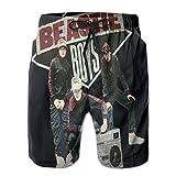 最新のメンズショーツ、ビーチパンツ Beastie Boys 夏のメンズビーチショーツ、涼しく通気性、カジュアルなファッション