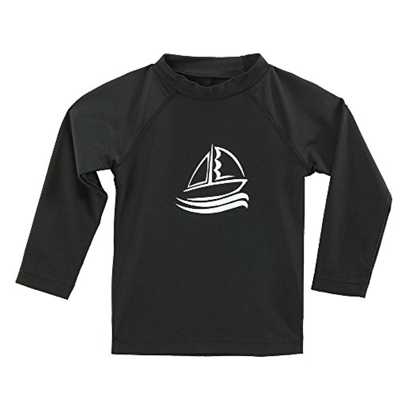 ESTAMICO キッズ 長袖 ラッシュガード Tシャツ UVカットUPF+50 子供用 水着 水陸両用