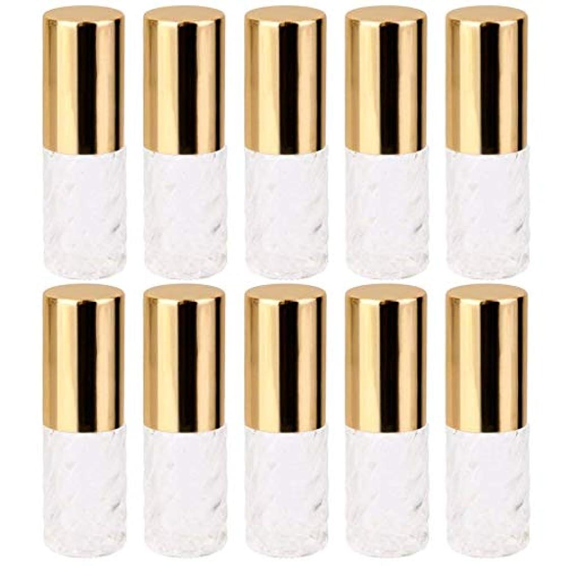 タービン散歩時代10個 5ml 透明 交換 旅行 空 ロールオン ガラス 香水瓶 容器 コスメ 詰替え 便利