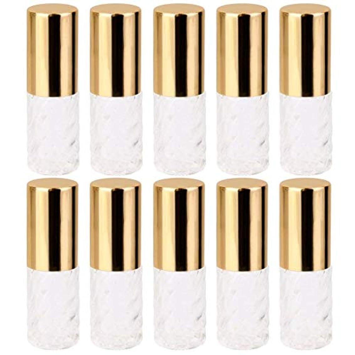 ブースト低下教義10個 5ml 透明 交換 旅行 空 ロールオン ガラス 香水瓶 容器 コスメ 詰替え 便利