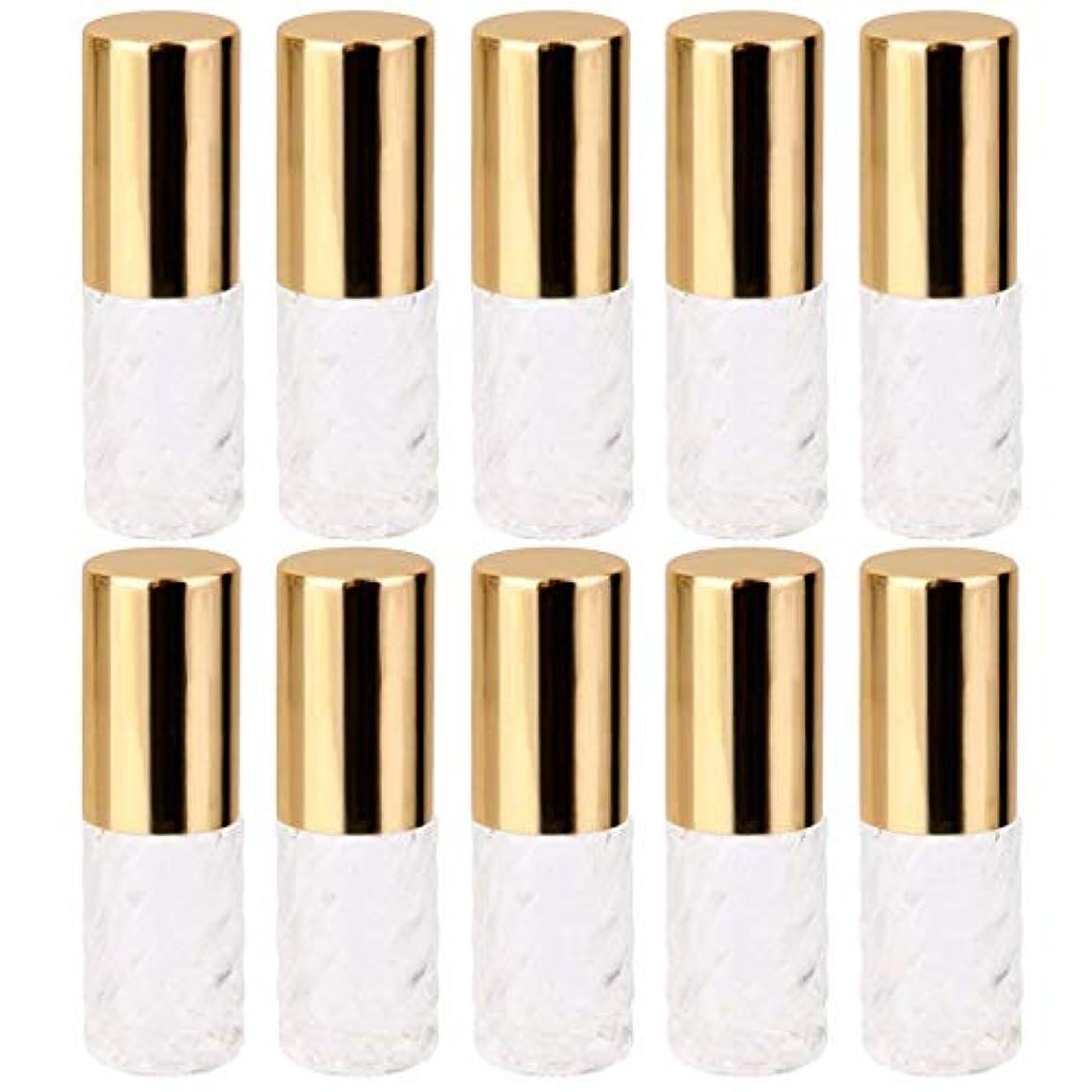 気を散らす慎重頼る10個 5ml 透明 交換 旅行 空 ロールオン ガラス 香水瓶 容器 コスメ 詰替え 便利