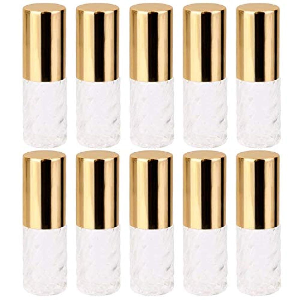 天国蒸発媒染剤10個 5ml 透明 交換 旅行 空 ロールオン ガラス 香水瓶 容器 コスメ 詰替え 便利