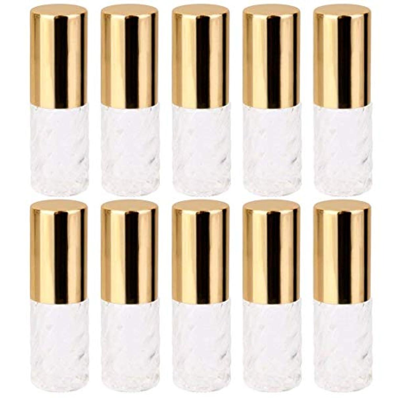 市場潜む光の10個 5ml 透明 交換 旅行 空 ロールオン ガラス 香水瓶 容器 コスメ 詰替え 便利