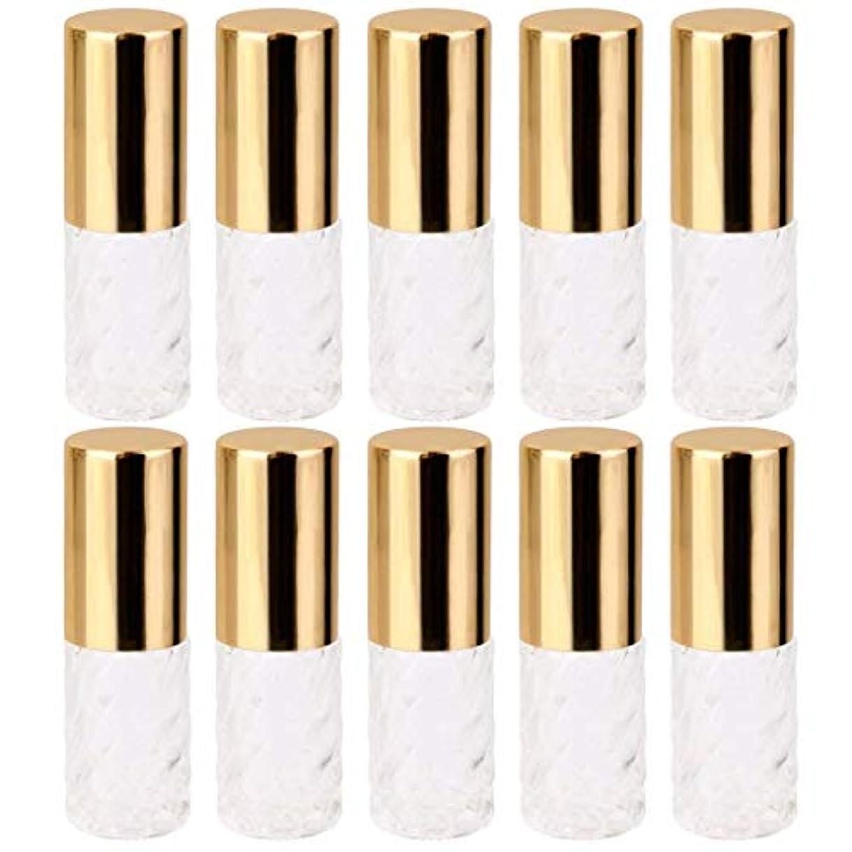 メンター近々リハーサル10個 5ml 透明 交換 旅行 空 ロールオン ガラス 香水瓶 容器 コスメ 詰替え 便利