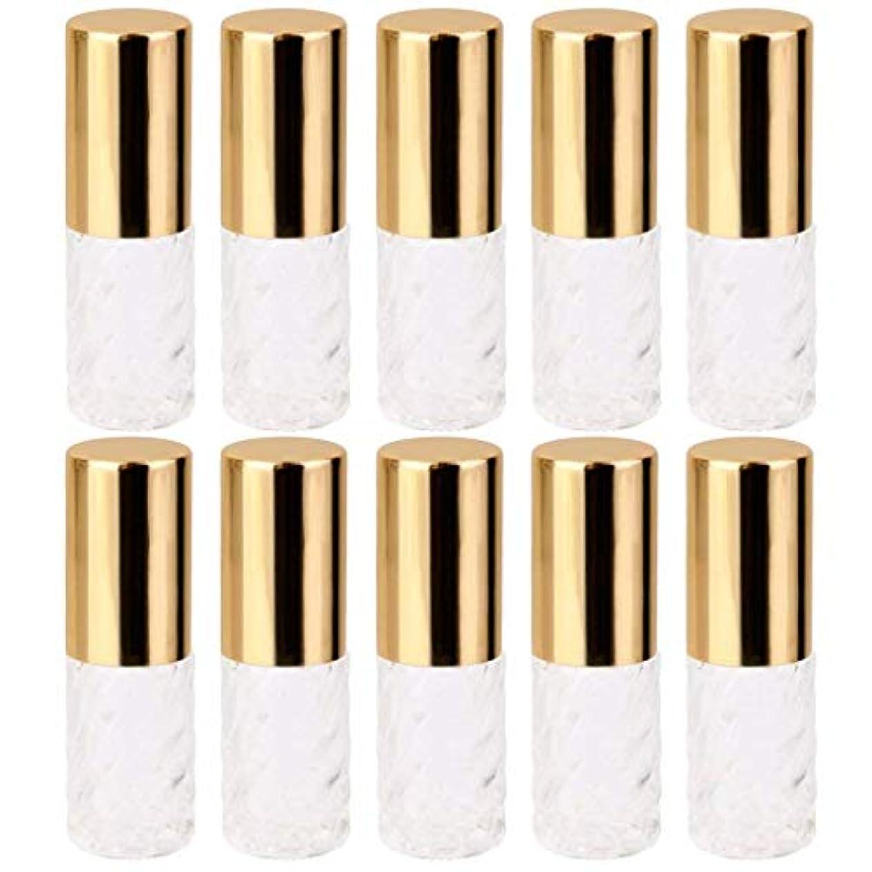 ミス緯度スリム10個 5ml 透明 交換 旅行 空 ロールオン ガラス 香水瓶 容器 コスメ 詰替え 便利