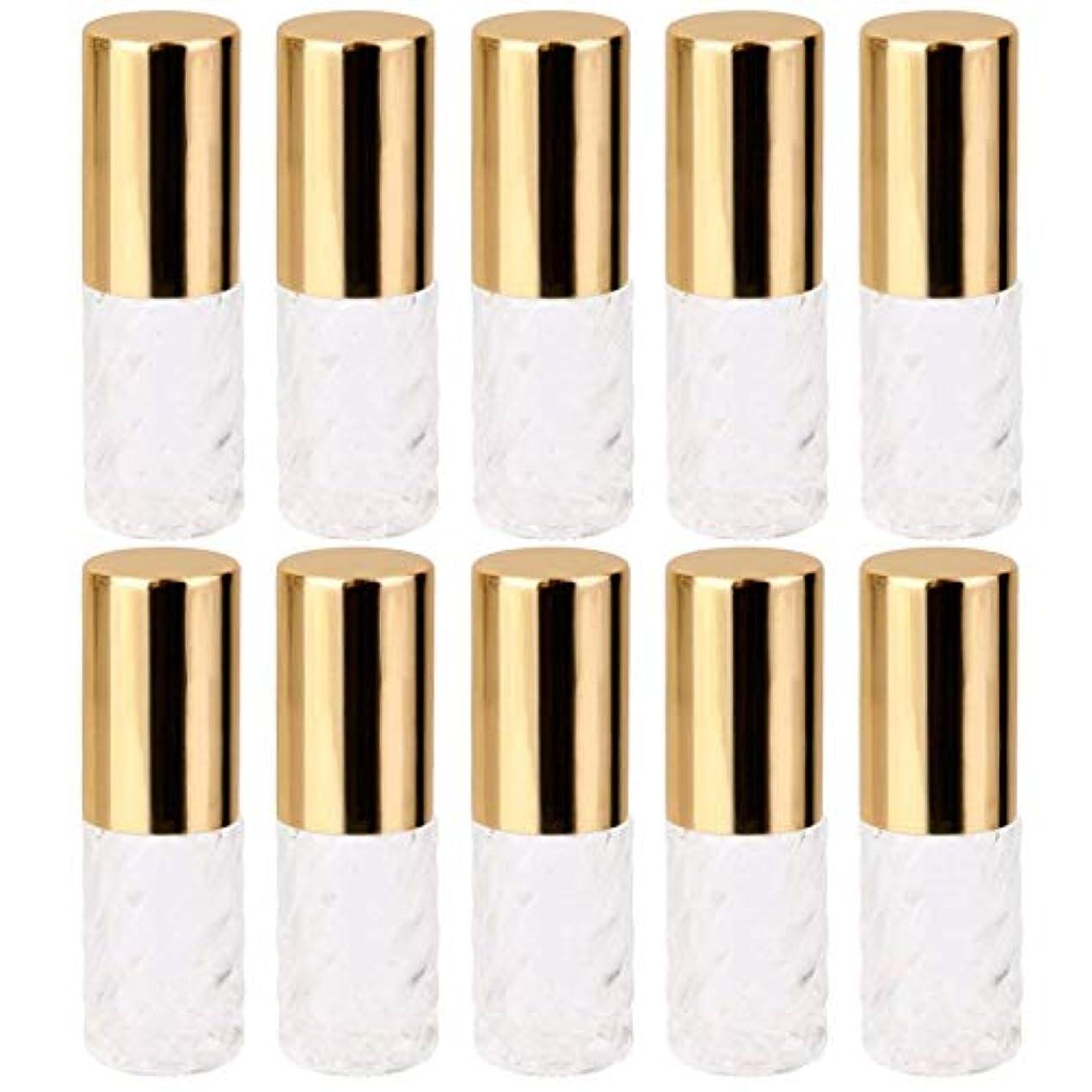プット漂流でも10個 5ml 透明 交換 旅行 空 ロールオン ガラス 香水瓶 容器 コスメ 詰替え 便利