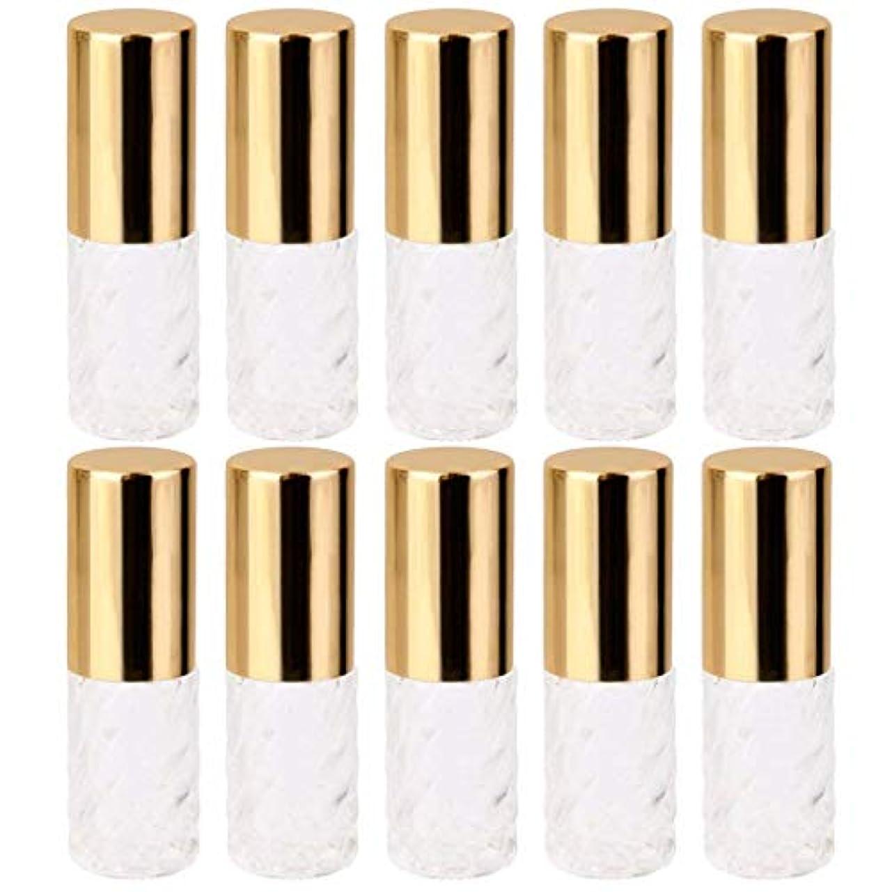毒液支配的わかる10個 5ml 透明 交換 旅行 空 ロールオン ガラス 香水瓶 容器 コスメ 詰替え 便利