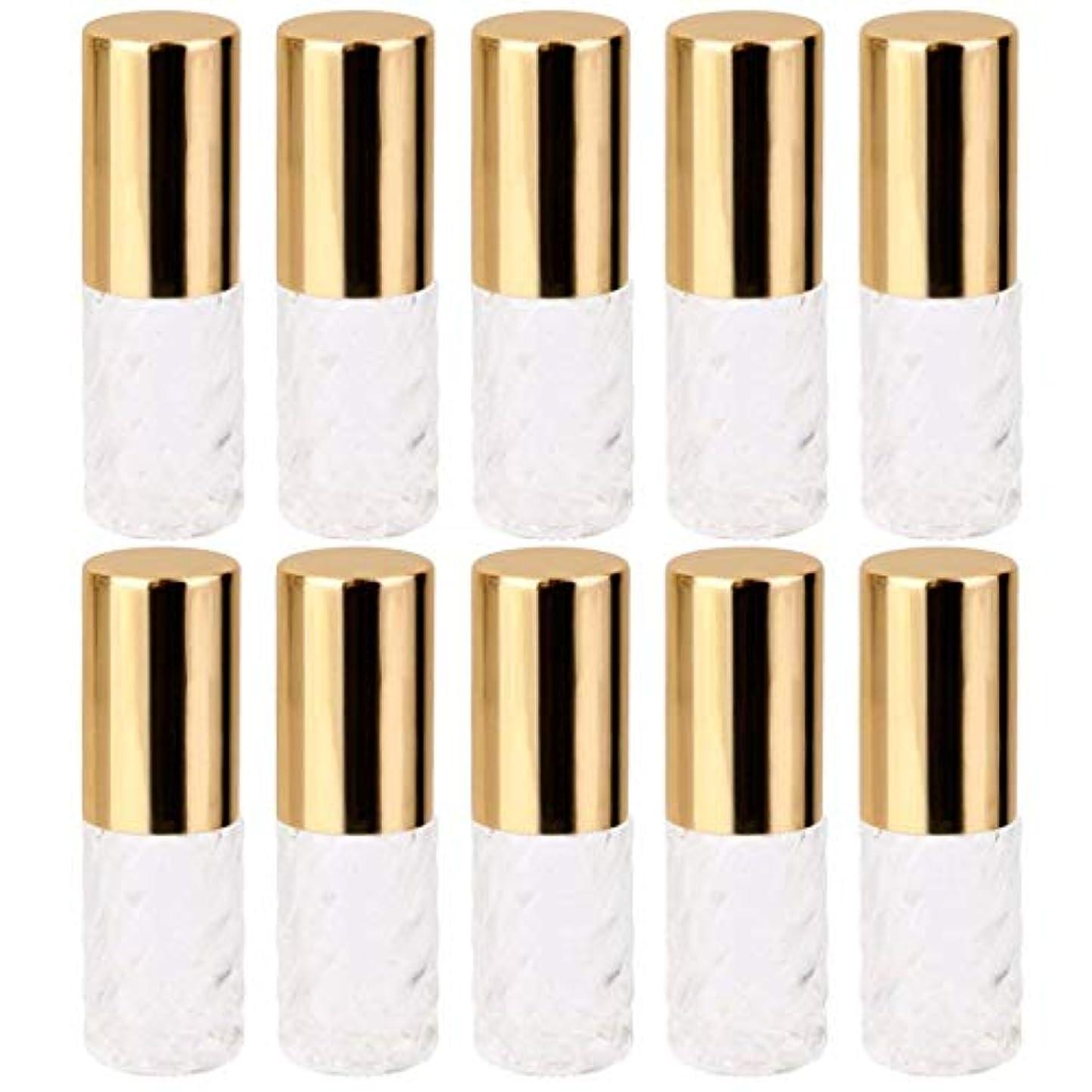 修士号精算王室10個 5ml 透明 交換 旅行 空 ロールオン ガラス 香水瓶 容器 コスメ 詰替え 便利
