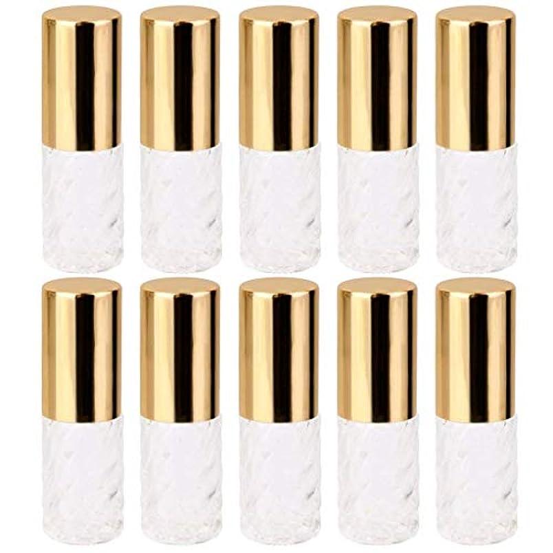 武器オフ寺院10個 5ml 透明 交換 旅行 空 ロールオン ガラス 香水瓶 容器 コスメ 詰替え 便利