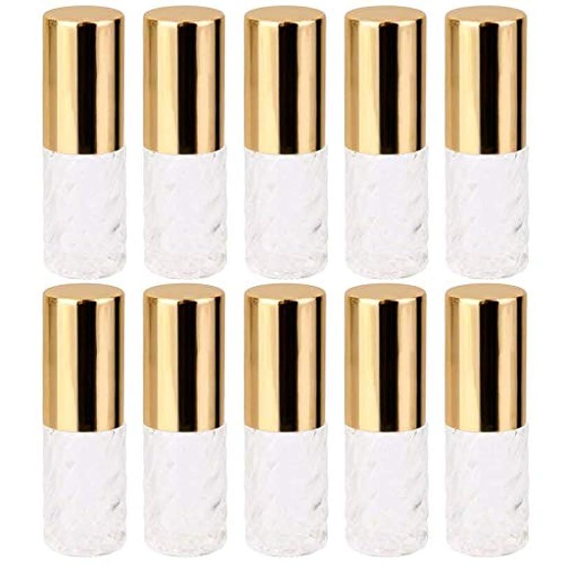 勇敢なに関してジーンズ10個 5ml 透明 交換 旅行 空 ロールオン ガラス 香水瓶 容器 コスメ 詰替え 便利