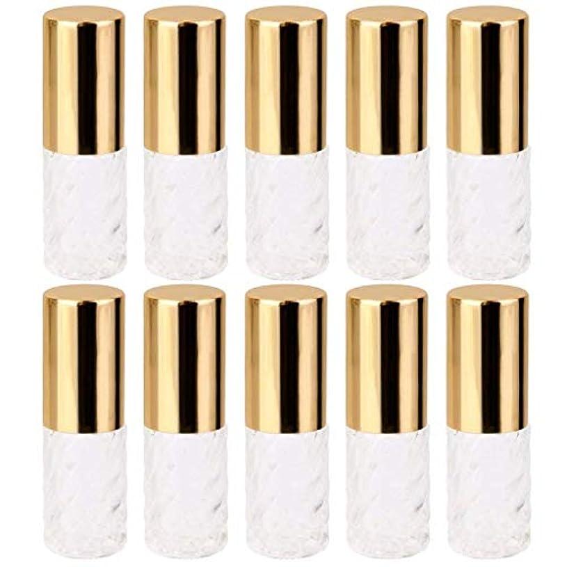 トレードペンフレンド大腿10個 5ml 透明 交換 旅行 空 ロールオン ガラス 香水瓶 容器 コスメ 詰替え 便利
