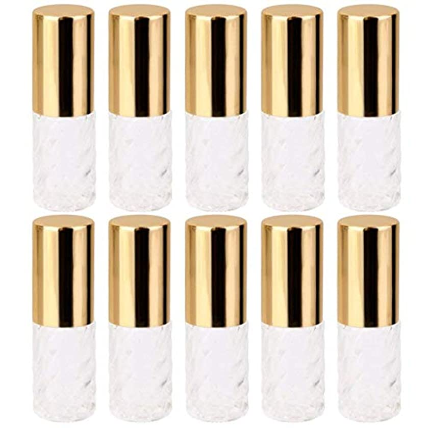 スキャンダル公平摂氏度10個 5ml 透明 交換 旅行 空 ロールオン ガラス 香水瓶 容器 コスメ 詰替え 便利