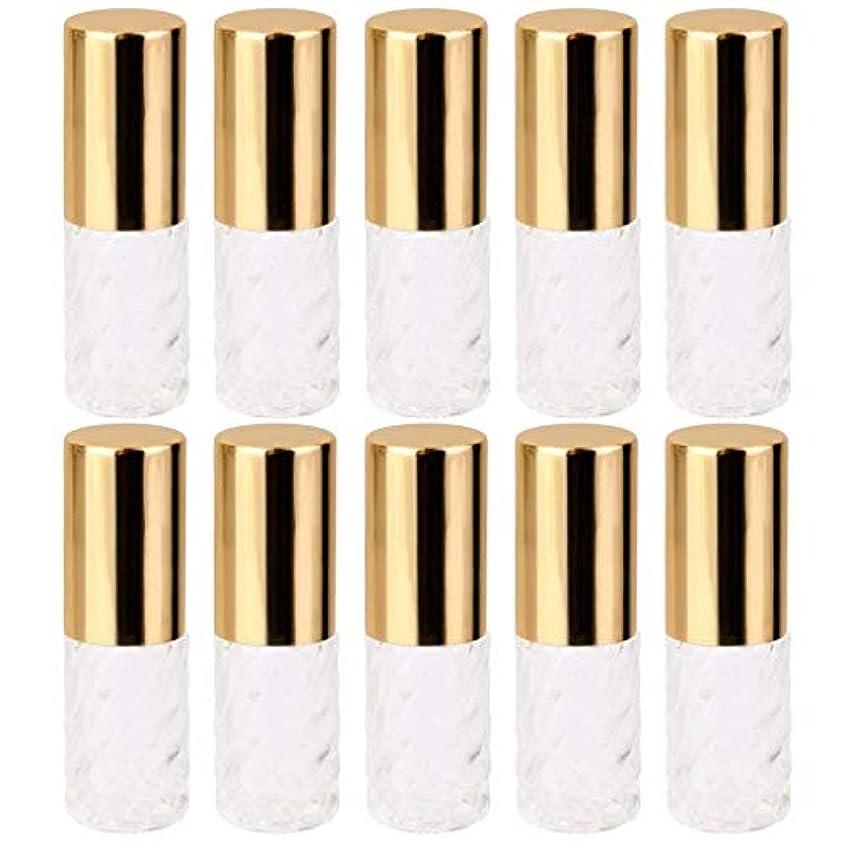 付属品地上でくま10個 5ml 透明 交換 旅行 空 ロールオン ガラス 香水瓶 容器 コスメ 詰替え 便利